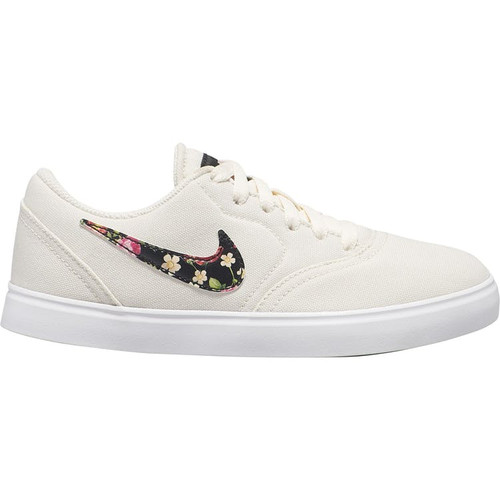 Nike SB Kids Check Skate Shoes - Pale Ivory / Black Tint