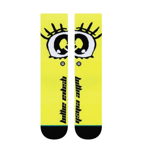 Billie Eillish x Stance Anime Eyes Socks - Neon Yellow
