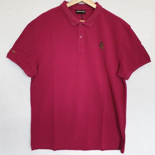 Santa Cruz - Cut and Sew Screaming Mono Hand Polo - Burgundy