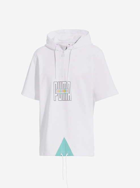 Diamond Supply Co X Puma - Short Sleeve Hoodie - White