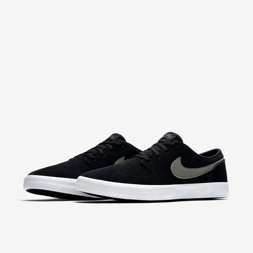 Nike SB Portmore 2 Solar Skate Shoes - Black / Grey / White