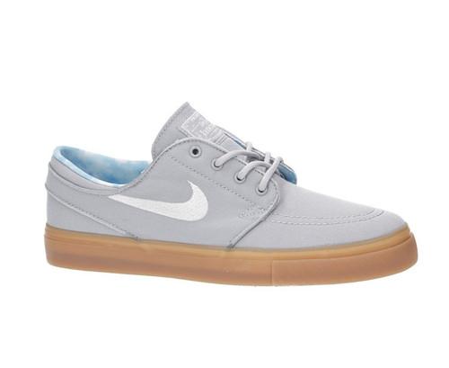 Nike SB Janoski Kids Skate Shoes - Wolf Grey / White