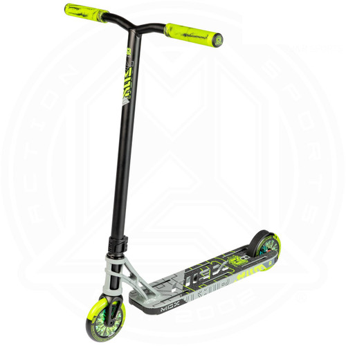 """MGP MGX P1 Pro 4.5"""" Complete Stunt Scooter - Grey / Lime"""