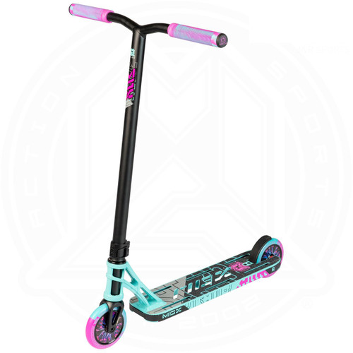 "MGP MGX P1 Pro 4.5"" Complete Stunt Scooter - Teal / Pink"