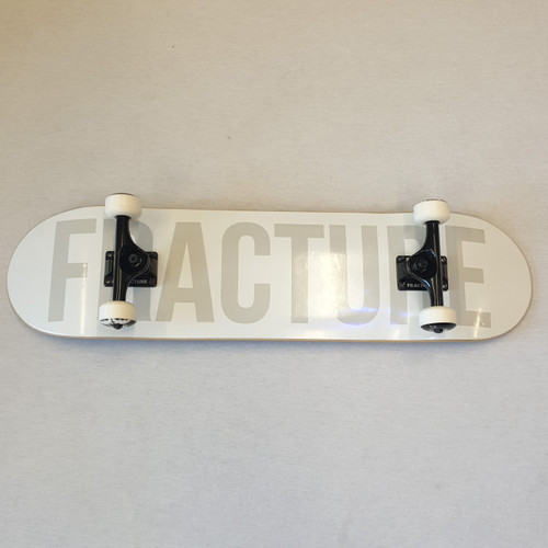Fracture Fade Complete Skateboard - White - 8 Inch
