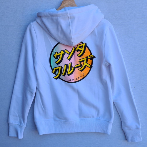 Santa Cruz - Japanese Dot Hood - Women's Hoodie - White