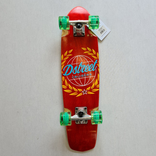 D Street Atlas Cruiser Skateboard - 28  IN - Red