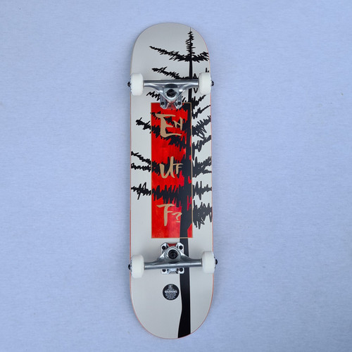 "Enuff Big Evergreen 8"" Skateboard Complete - White"
