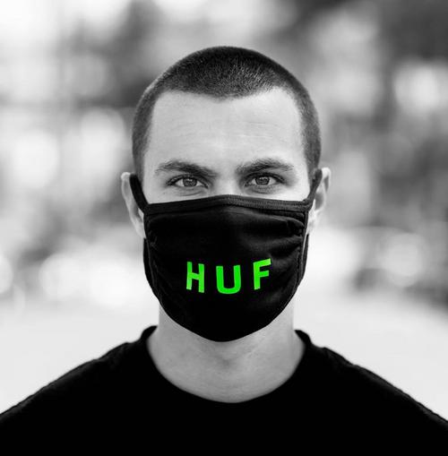 HUF Official Face Mask - Black