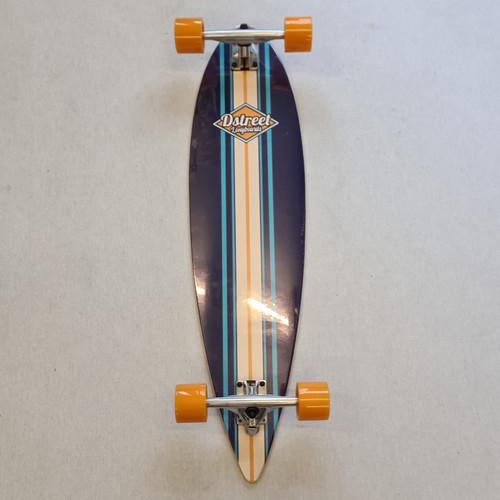 D Street Pin Tail Ocean Longboard 35 Inch - Blue