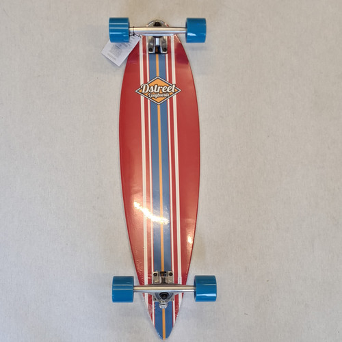 D Street Pin Tail Ocean Longboard 35 Inch - Red