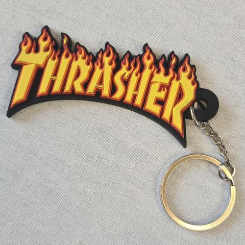 Thrasher Key Ring - Flame Logo