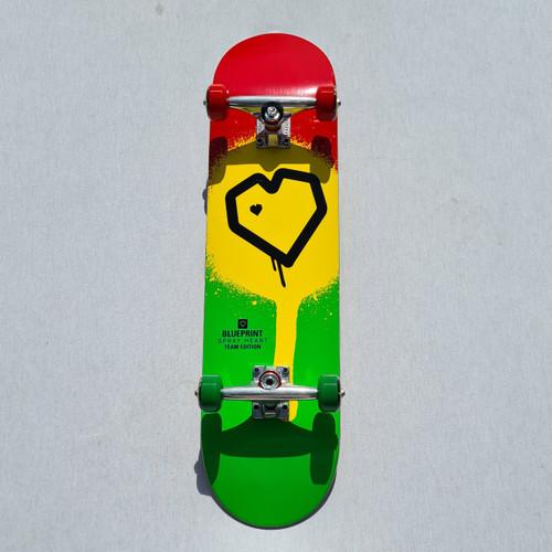 Blueprint Heart Complete Skateboard - 8 Inch - Rasta