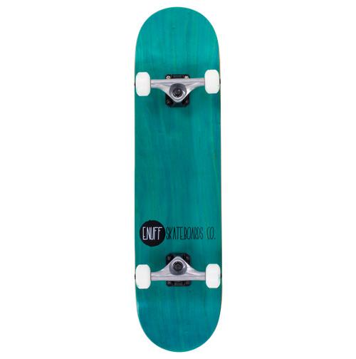 """Enuff 7.75"""" Logo Stain Complete Skateboard Setup - Teal"""