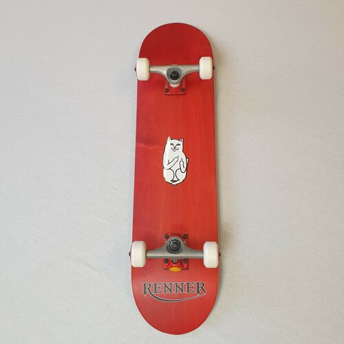 "Renner 7.75"" Complete Skateboard - Red - Ripndip Lord Nermal"