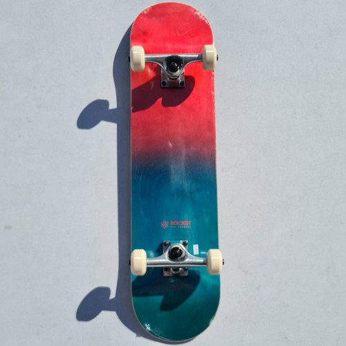 Rocket Complete Skateboard - 7.5 Inch - Double Dipped Fade - Red and Blue