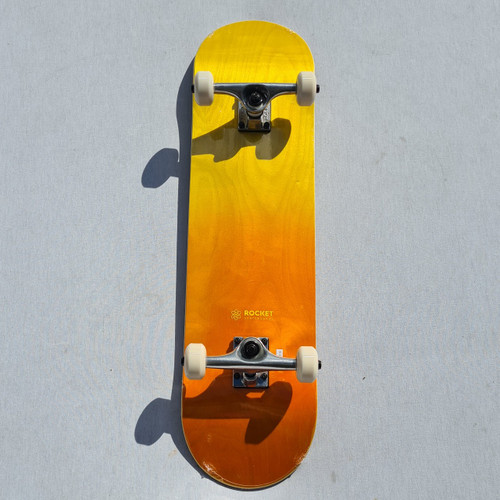 Rocket Complete Skateboard - 8 Inch - Double Dipped Fade - Orange