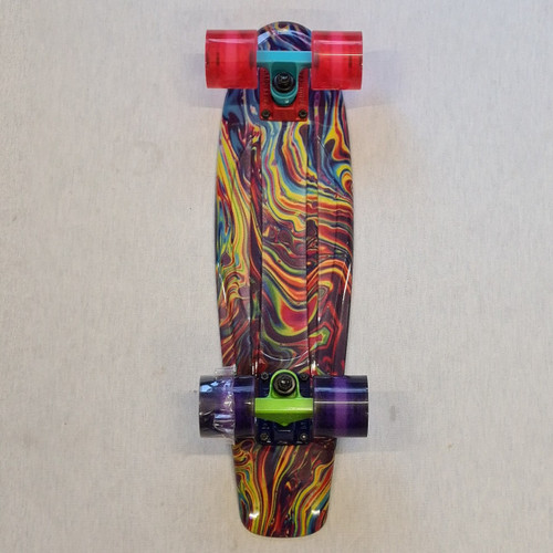 "Madd Retro Skateboard - 22.5"" Crusier Skateboard - Swirl"