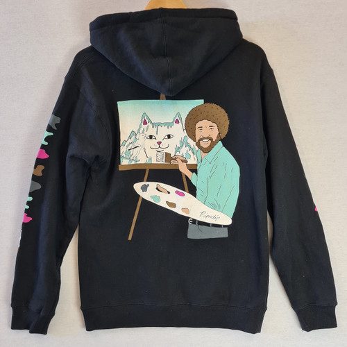RIPNDIP - Bob Ross Beautiful Mountain Hoodie - Black
