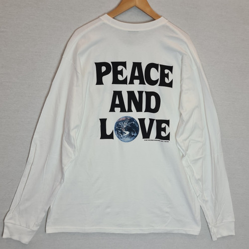 Stussy - Peace And Love Long Sleeve Tee - White