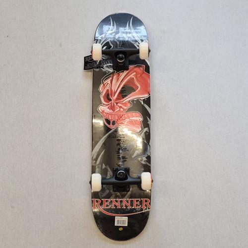 """Renner 7.75"""" Complete Skateboard - Skull"""