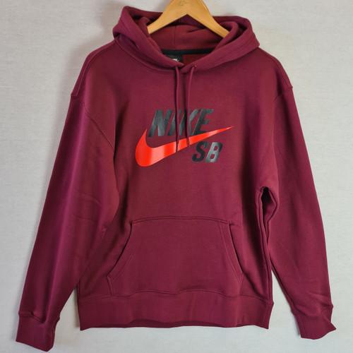 Nike SB Burgundy Hoodie - Burgundy