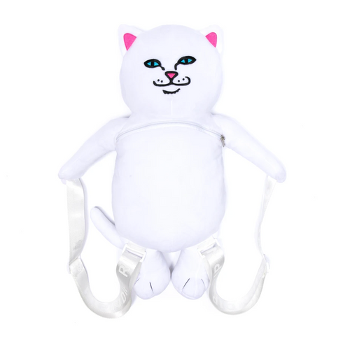 RIPNDIP - Lord Nermal Plush Backpack - White
