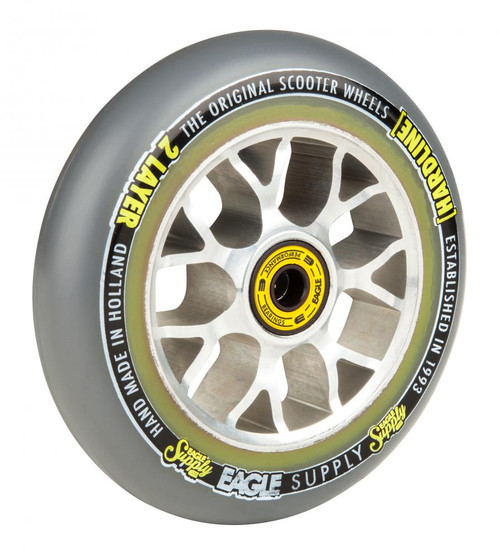 Eagle Supply 115mm Sewercaps Stunt Scooter Wheel - Grey / Silver