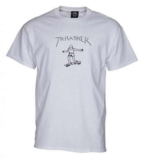 Thrasher Skateboard Magazine Gonz Tee White