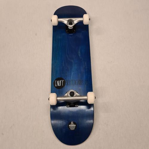 "Enuff 8"" Logo Stain Complete Skateboard - Blue"