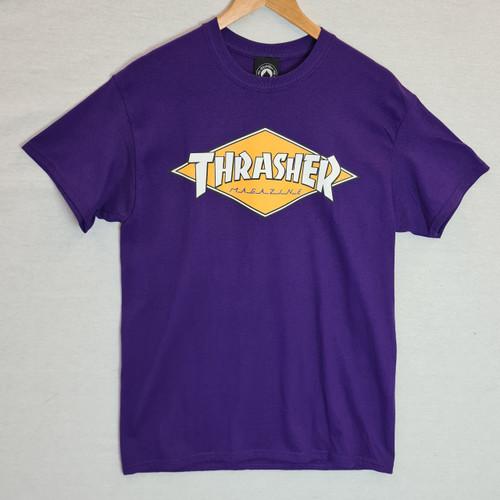 Thrasher Diamond Logo Tee - Purple