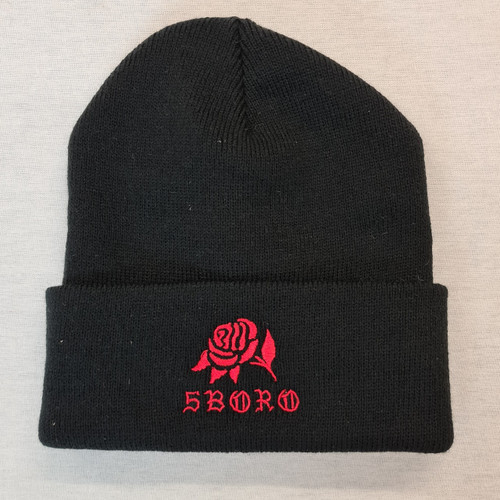 5BORO NYC Rose Beanie - Black