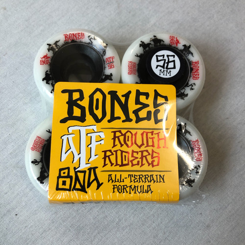 Bones Rough Rider 56mm Skateboard Cruiser Wheels - White
