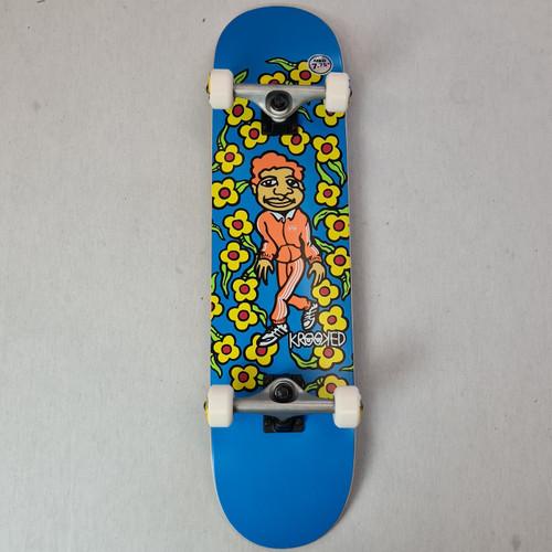 "Krooked 7.75"" Team Sweatpants Complete Skateboard - Blue"