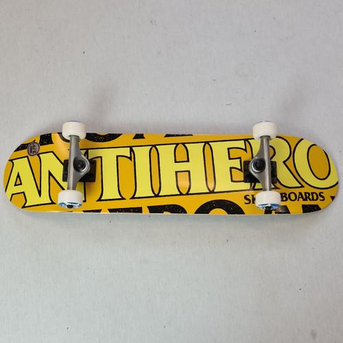 "Anti Hero 7.75"" Blackhero Complete Skateboard - Yellow"