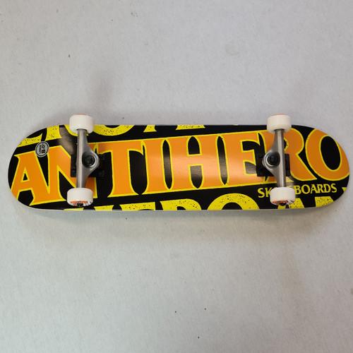 "Anti Hero 8.25"" Blackhero Complete Skateboard - Orange"