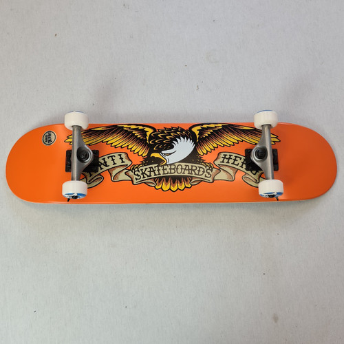 "Anti Hero 7.75"" Classic Eagle Complete Skateboard - Orange"