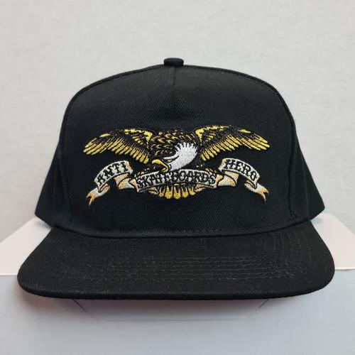 Anti Hero Eagle Skateboards Snapback Hat - Black