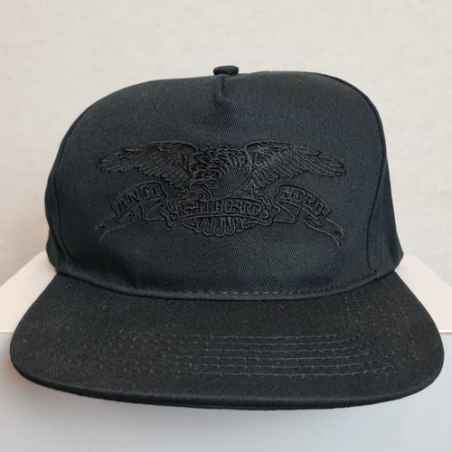 Anti Hero Eagle Skateboards Snapback Hat - Black/Black