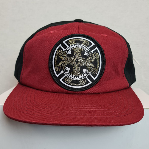 Independent Patch Logo Snapback Cap - Red/Black