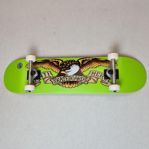 "Anti Hero 8"" Classic Eagle Complete Skateboard - Green"