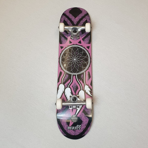 "Enuff Dreamcatcher 7.25"" Mini Complete Skateboard - Grey/Pink"