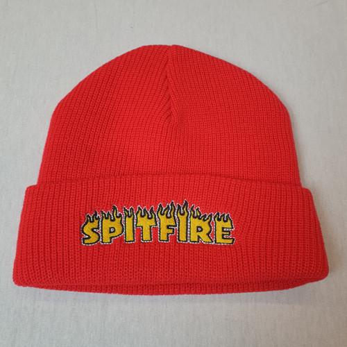 Spitfire Skateboards Flame Logo Beanie - Red