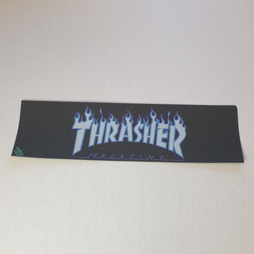 Thrasher X Mob Skateboard Griptape - White Flame Logo