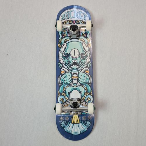 Rocket Mini Complete Skateboard - Alien Pile Up - Blue