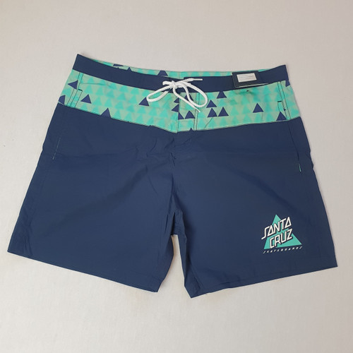 Santa Cruz Skateboards Not A Dot Swimming / Board Shorts - Navy/Green