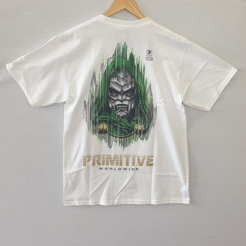 Primitive Skateboards X Paul Jackson X Marvel Doom Tee - White