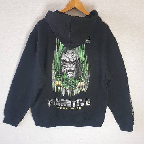 Primitive Skateboards X Paul Jackson X Marvel Doom Hoodie - Black