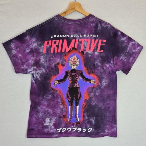 Primitive Skateboards X Dragon Ball Z Goku Black Rose Tee - Tie Dye