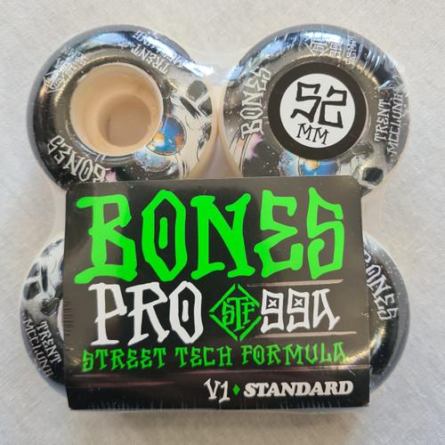 Bones STF V1 Standard 52mm 99a Skateboard Wheels - White